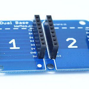 Dual Base for WeMos D1 mini Compatible WiFi Wireless Controller PCB DIY.jpg
