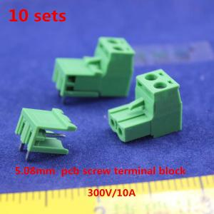 Free shipping 10 sets ht5 08 2pin Terminal plug type 300V 10A 5 08mm pitch connector.jpg
