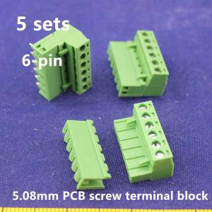 Free shipping 5 sets ht5 08 6pin Terminal plug type 300V 10A 5 08mm pitch connector.jpg